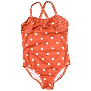 Gymboree Red Polka Dot Retro Style Swimsuit 4T